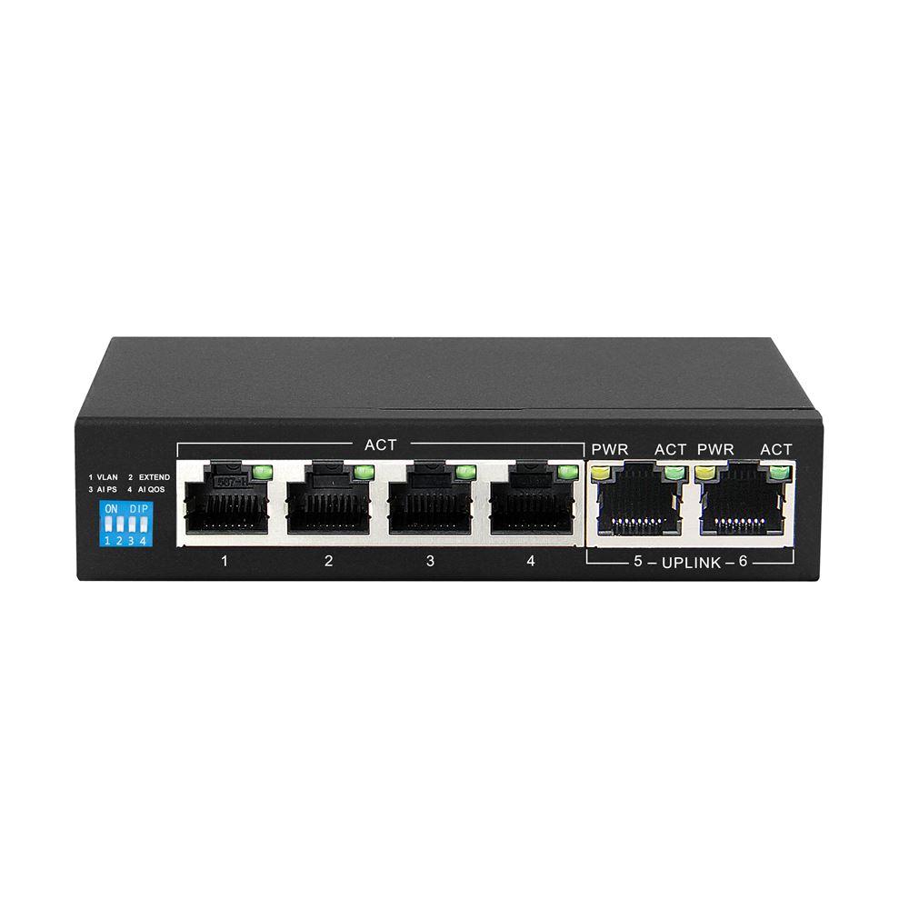 Extralink KRIOS PoE Switch 4x Gigabit PoE/PoE+, 2x RJ45 Uplink Gigabit, 60W