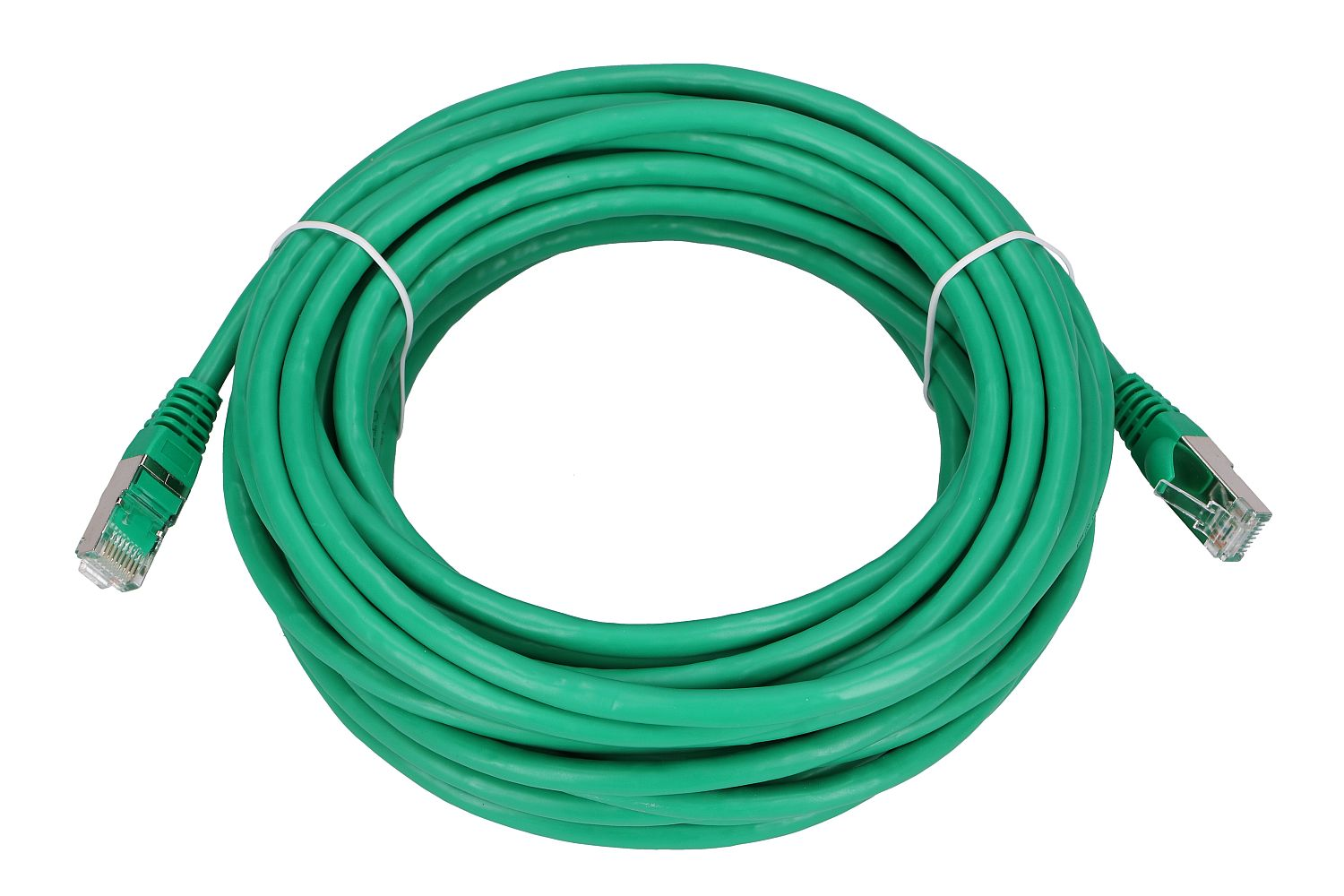 Extralink Kat.6 FTP 10m  LAN Patchcord Copper twisted pair, 1Gbps Green