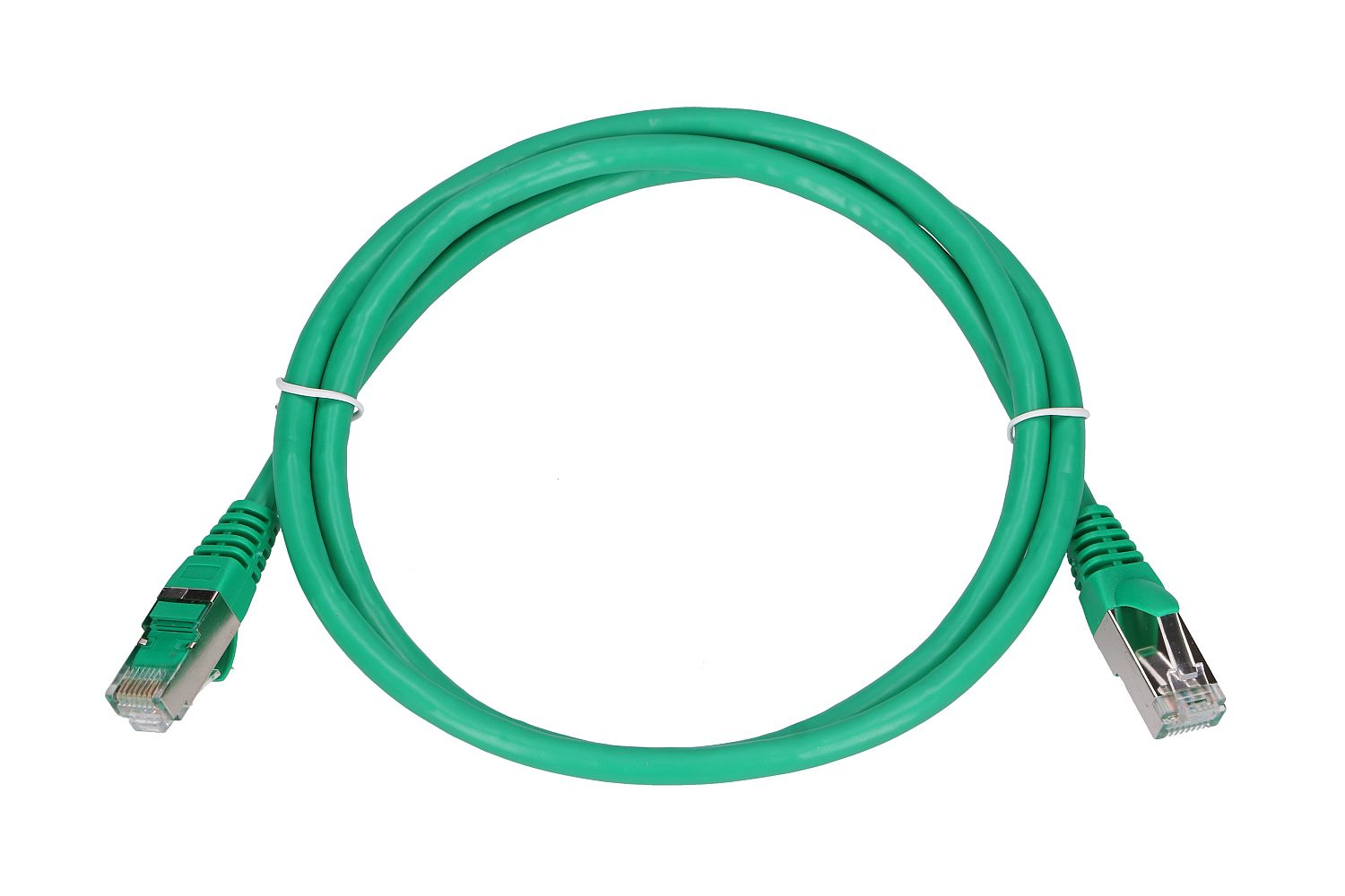 Extralink Kat.6 FTP 1m LAN Patchcord Copper twisted pair, 1Gbps Green