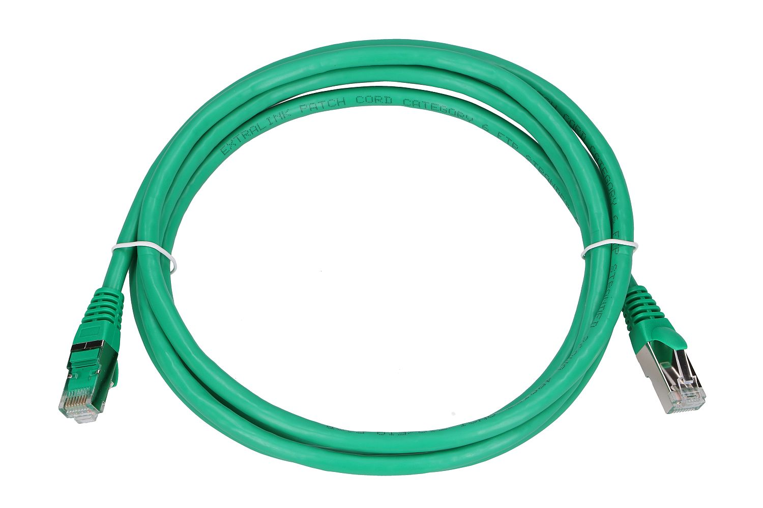 Extralink Kat.6 FTP 2m LAN Patchcord Copper twisted pair, 1Gbps Green