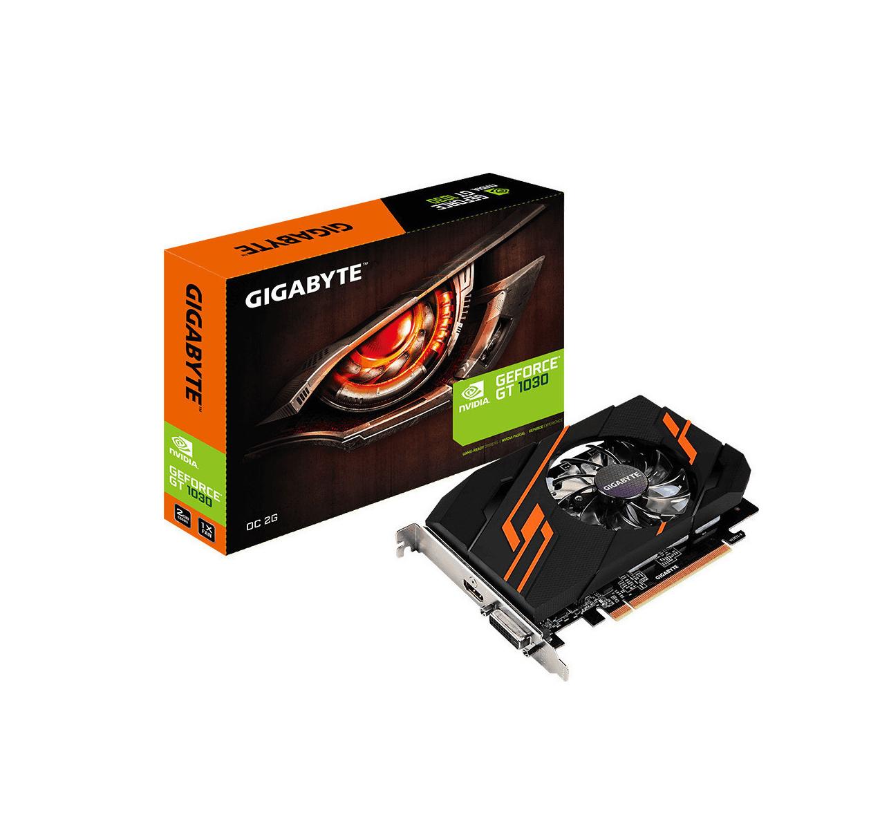 Gigabyte GeForce GT 1030 2GB OC GV-N1030OC-2GI Κάρτα Γραφικών