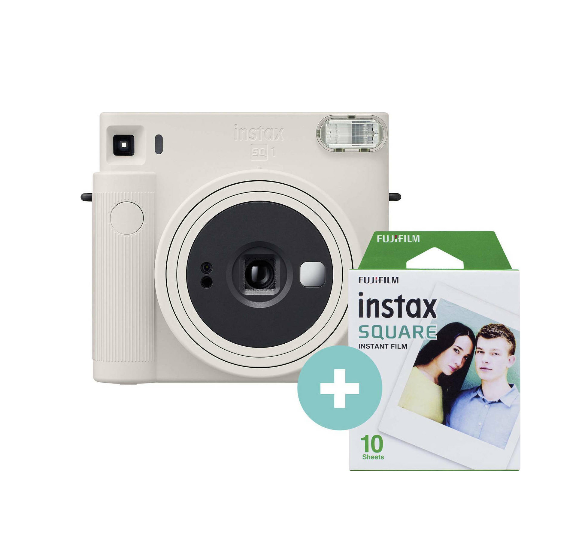 Fujifilm Instax Square SQ 1 Set Chalk White Αναλογική Φωτογραφική Μηχανή 70100148677