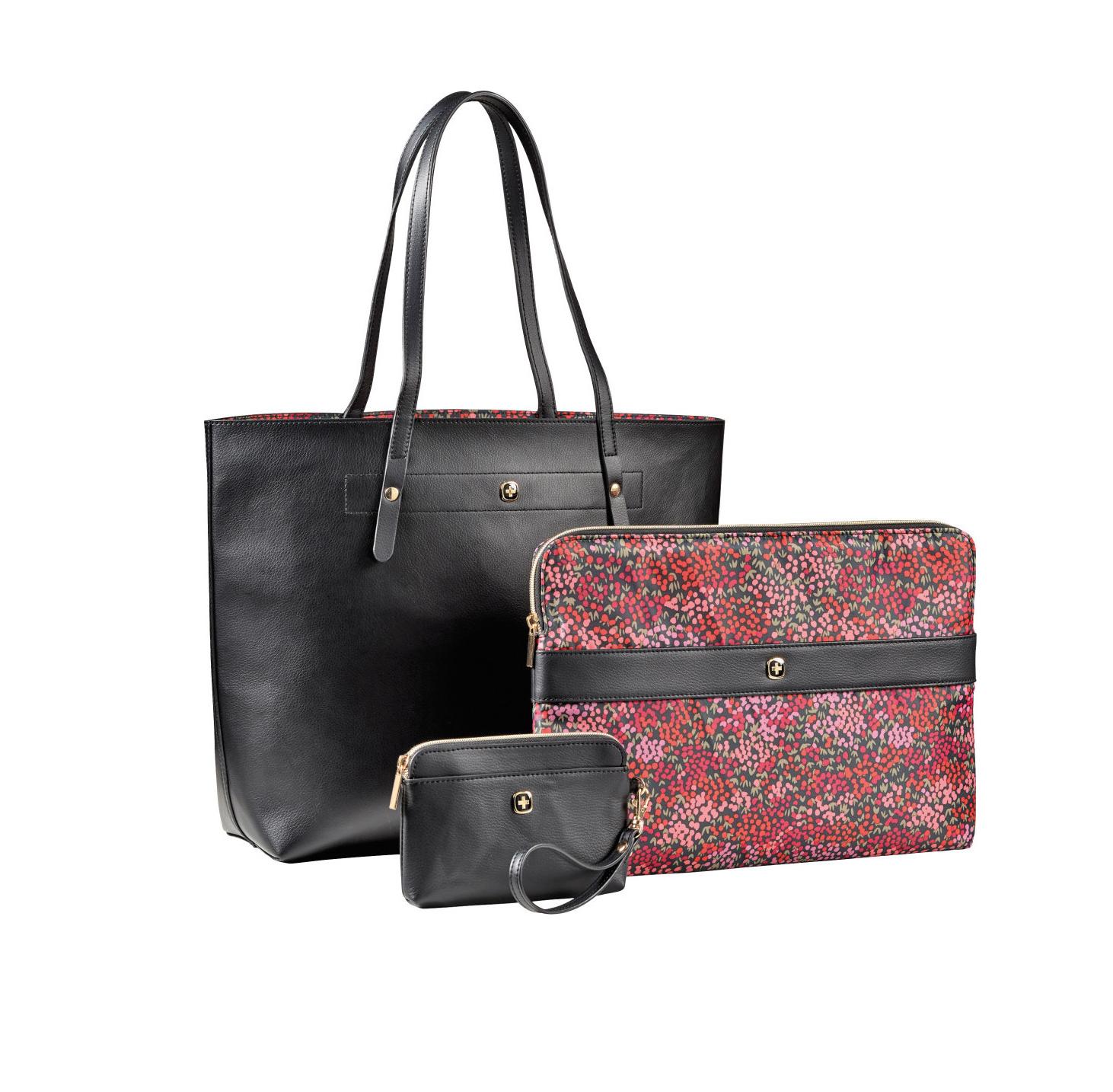 Wenger Marie Sol Notebook Bag 14,1''  Black Floral 604807