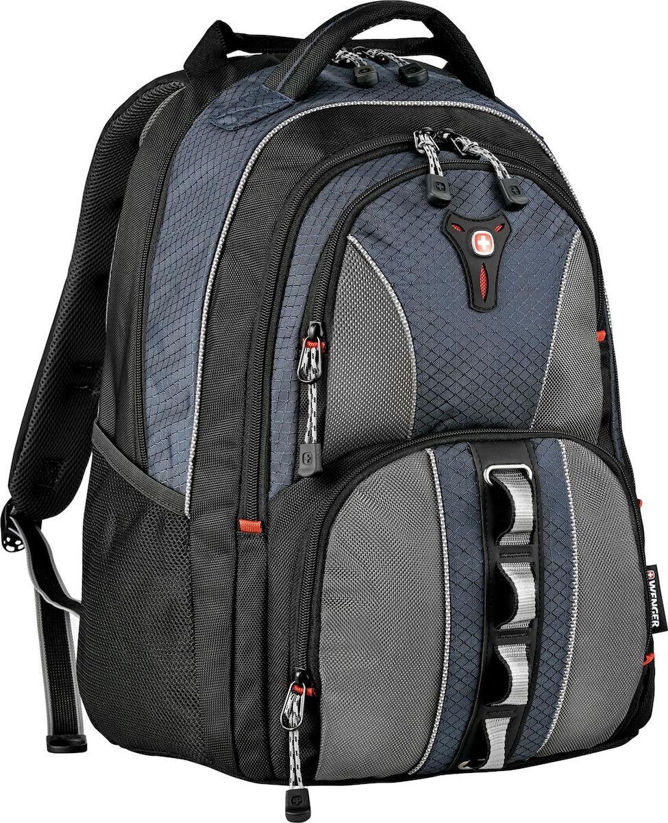 """Wenger Cobalt 16"""""""" Laptop Backpack Grey Blue 600629"""