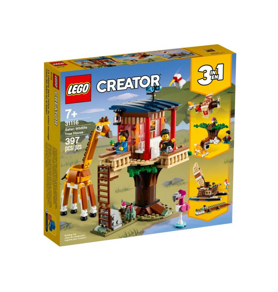 Lego Creator: Safari Wildlife Tree House 31116