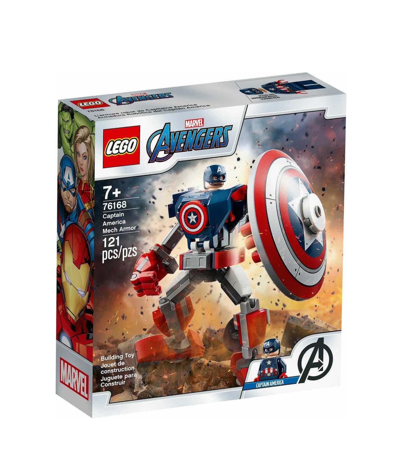 Lego Super Heroes: Marvel Avengers Captain America Mech Armor Set 76168