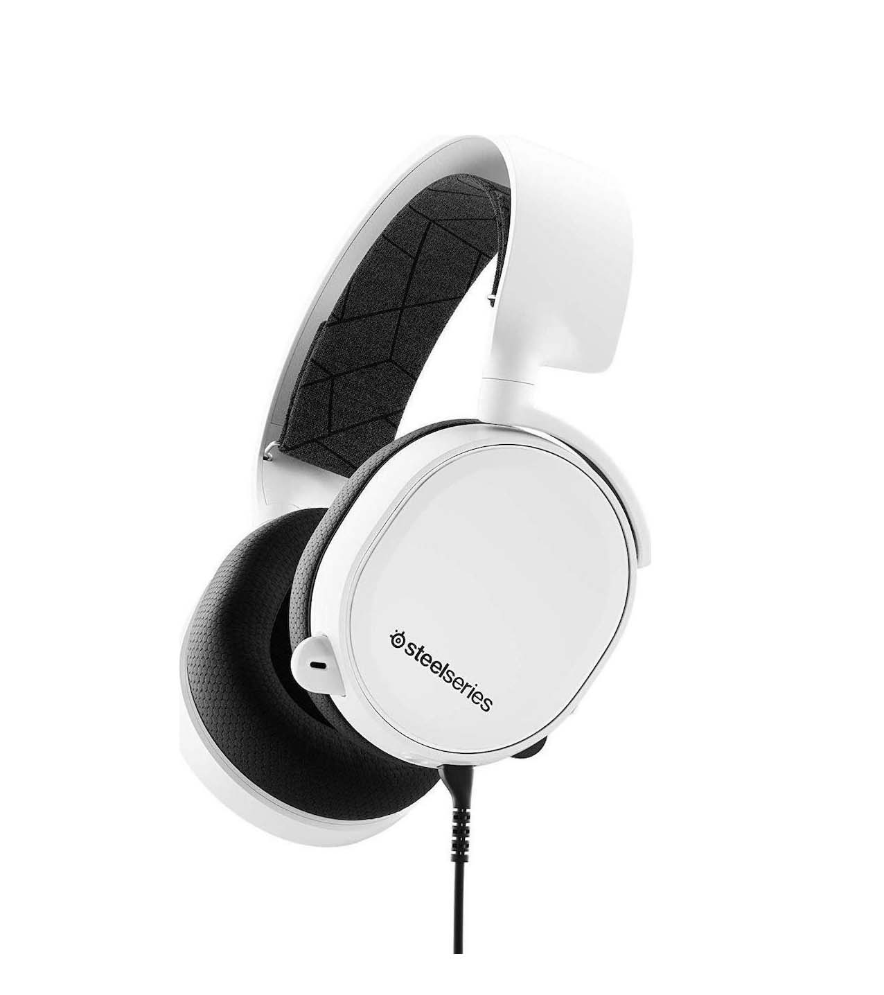 SteelSeries Arctis 3 2019 Edition White Headphones 61506