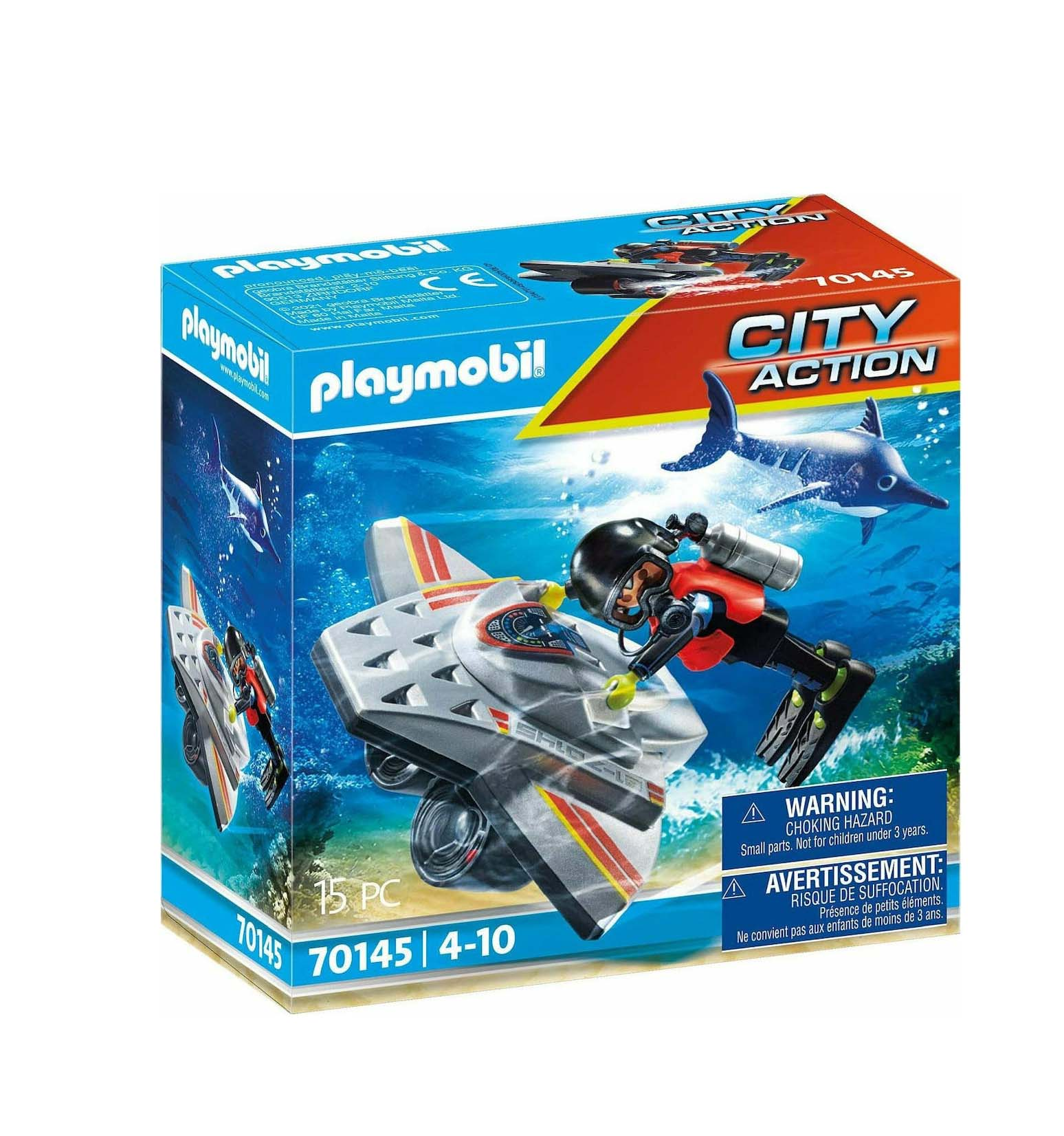 Playmobil City Action: Diving Scooter in Rescue 70145