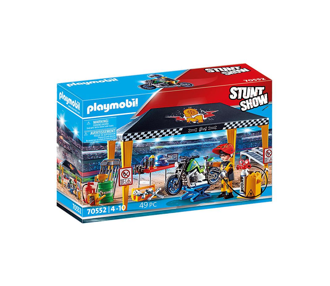 Playmobil Stunt Show: Σκηνή- Συνεργείο για Οχήματα 70552