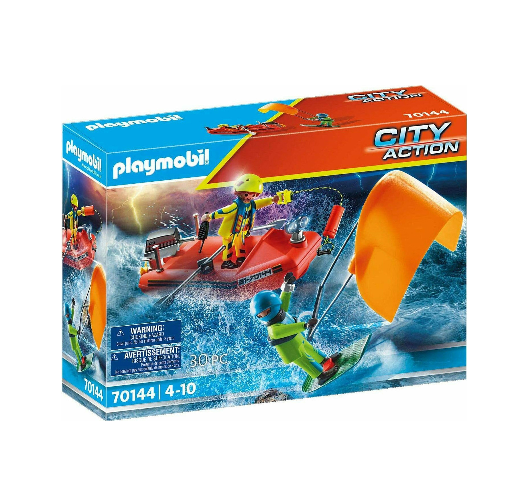 Playmobil City Action: Kitesurfer Rescue With Boat 70144