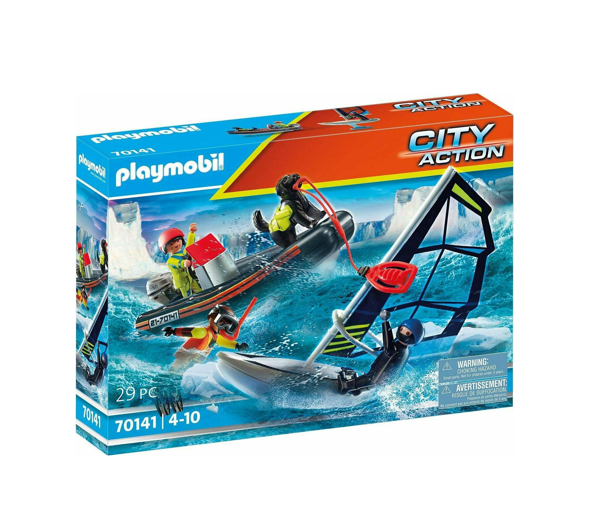 Playmobil City Action: Polar Sailor Rescue With Dinghy 70141