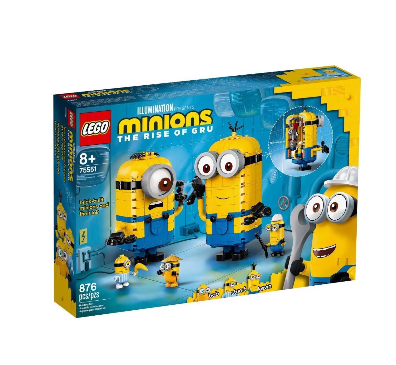 Lego Brick-built Minions and Their Lair 75551