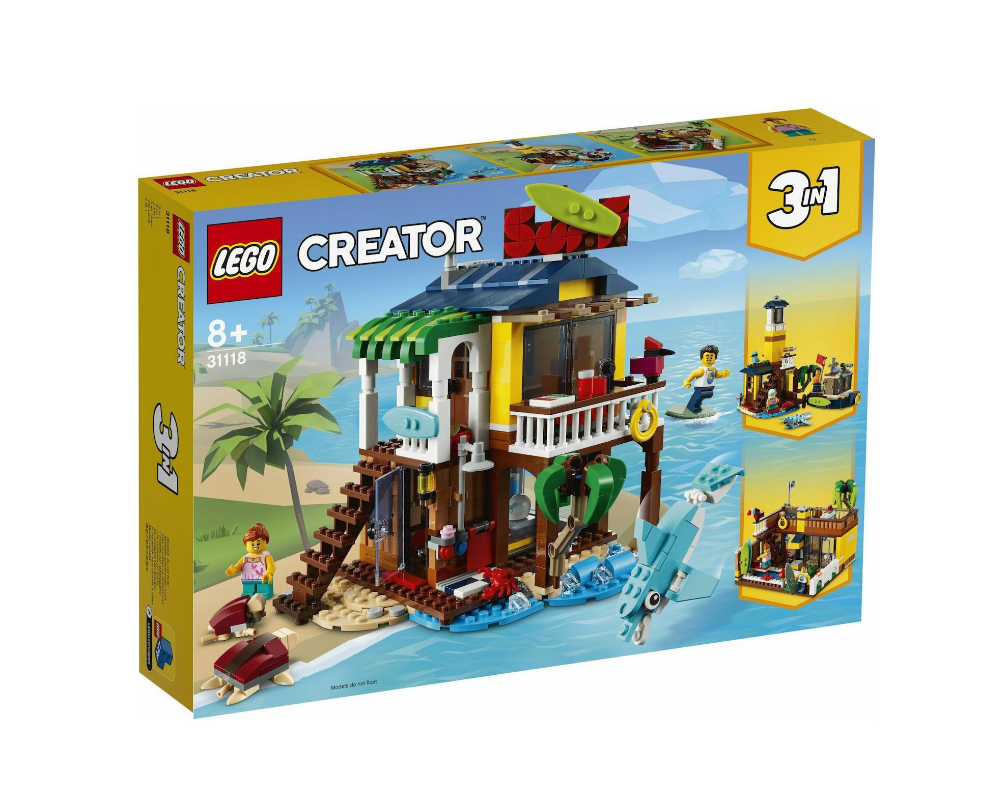 Lego Creator: 3 in 1 Surfer Beach House 31118