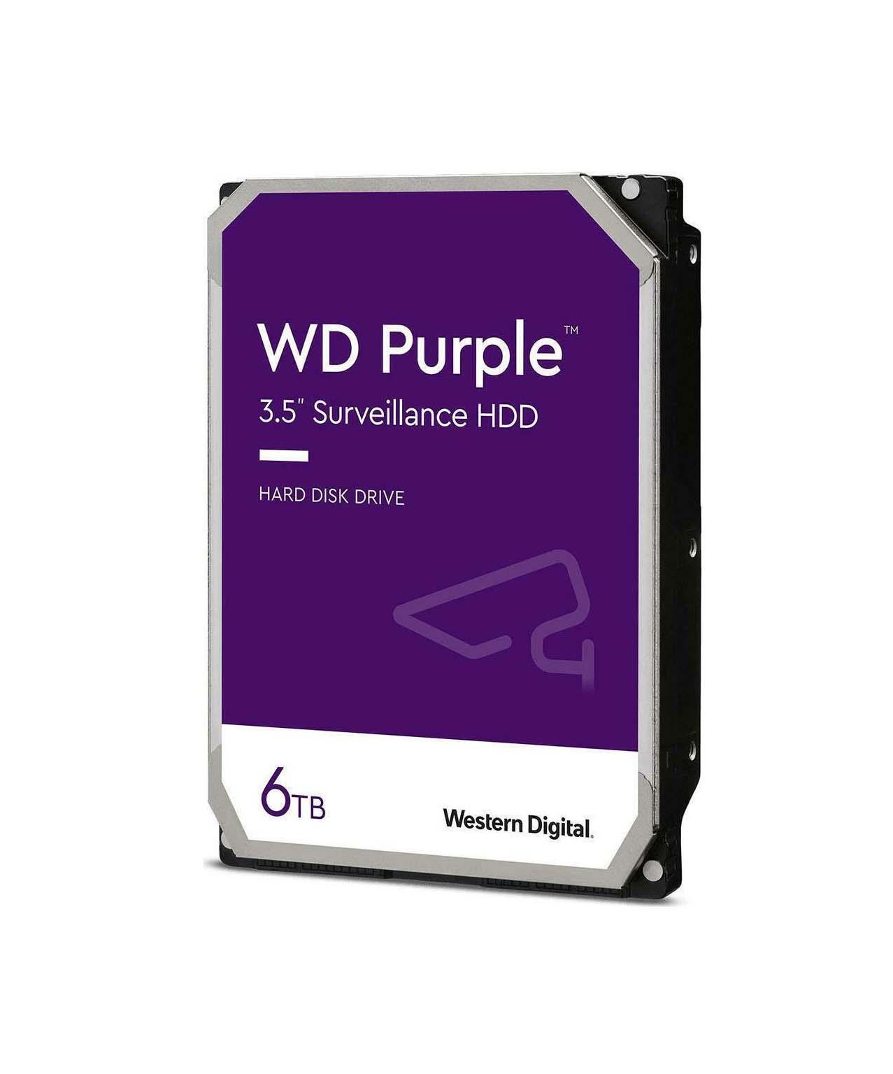 Western Digital Purple Surveillance 6TB WD62PURZ Σκληρός Δίσκος* 3.5'' Sata 3