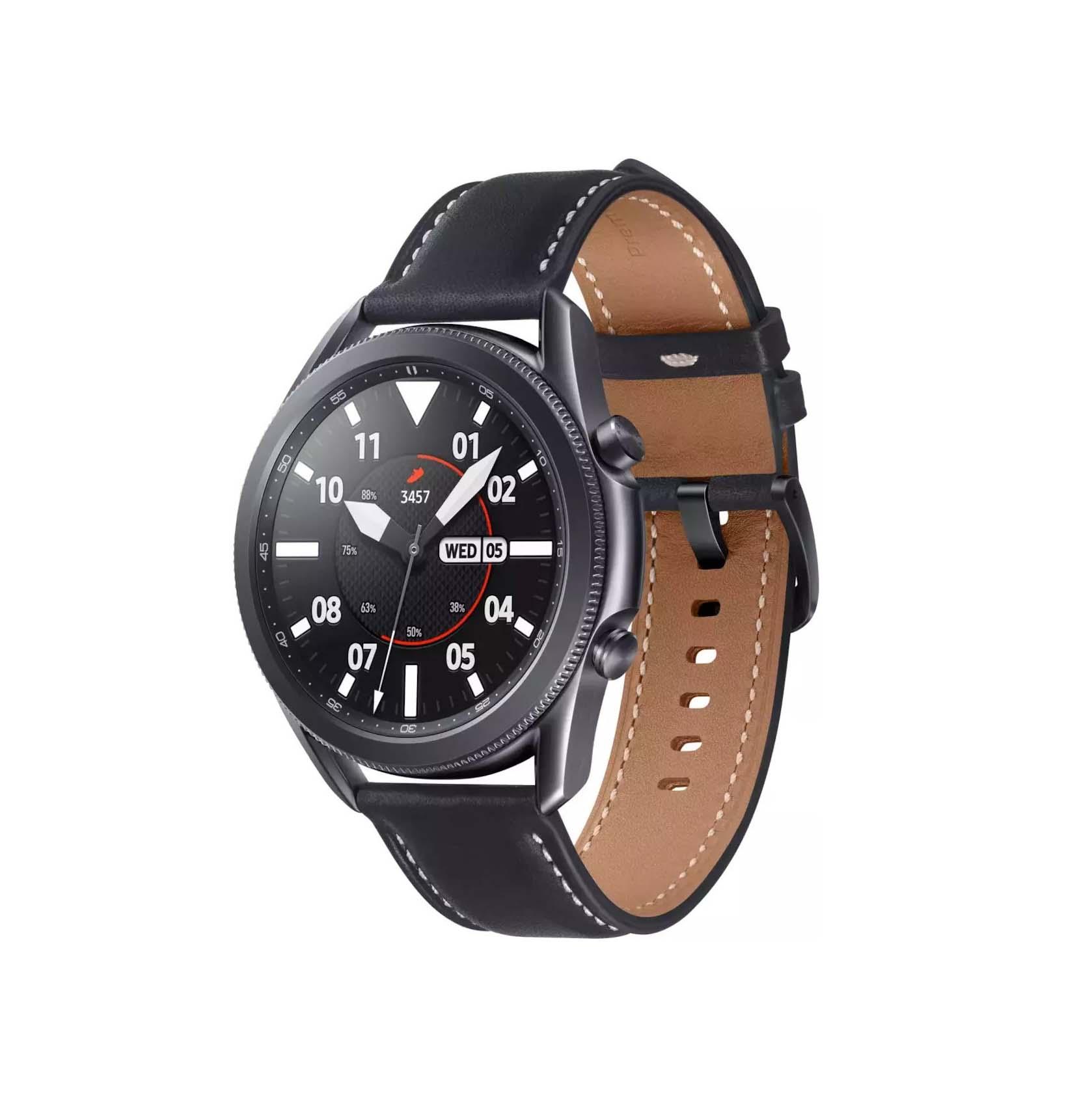 Samsung Galaxy Watch 3 45mm R840 Stainless Steel Mystic Black SM-R840 Πληρωμή έως 24 δόσεις*