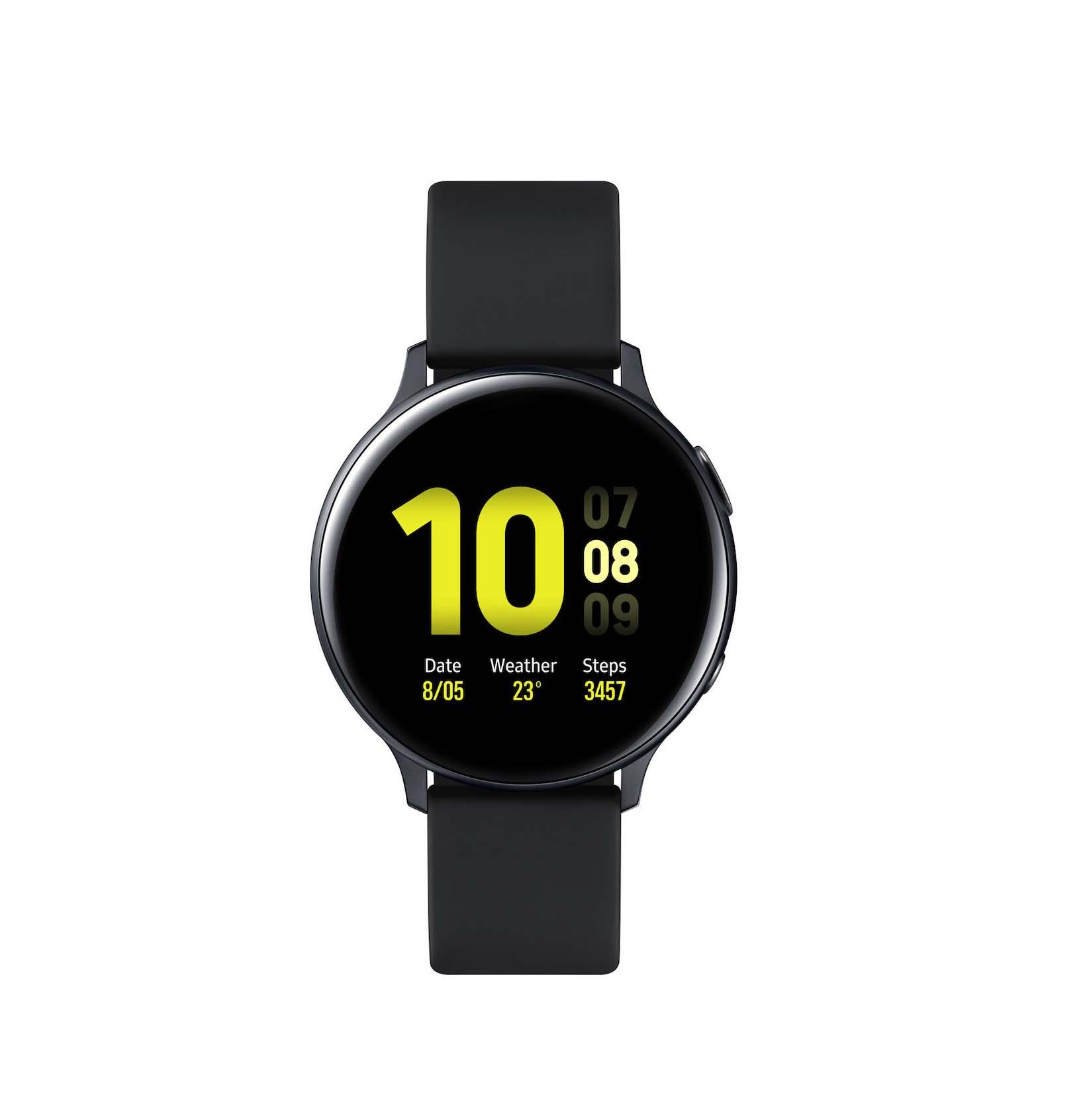 Samsung Galaxy Watch Active 2 R820 Aluminium 44mm Black Πληρωμή έως 24 δόσεις*