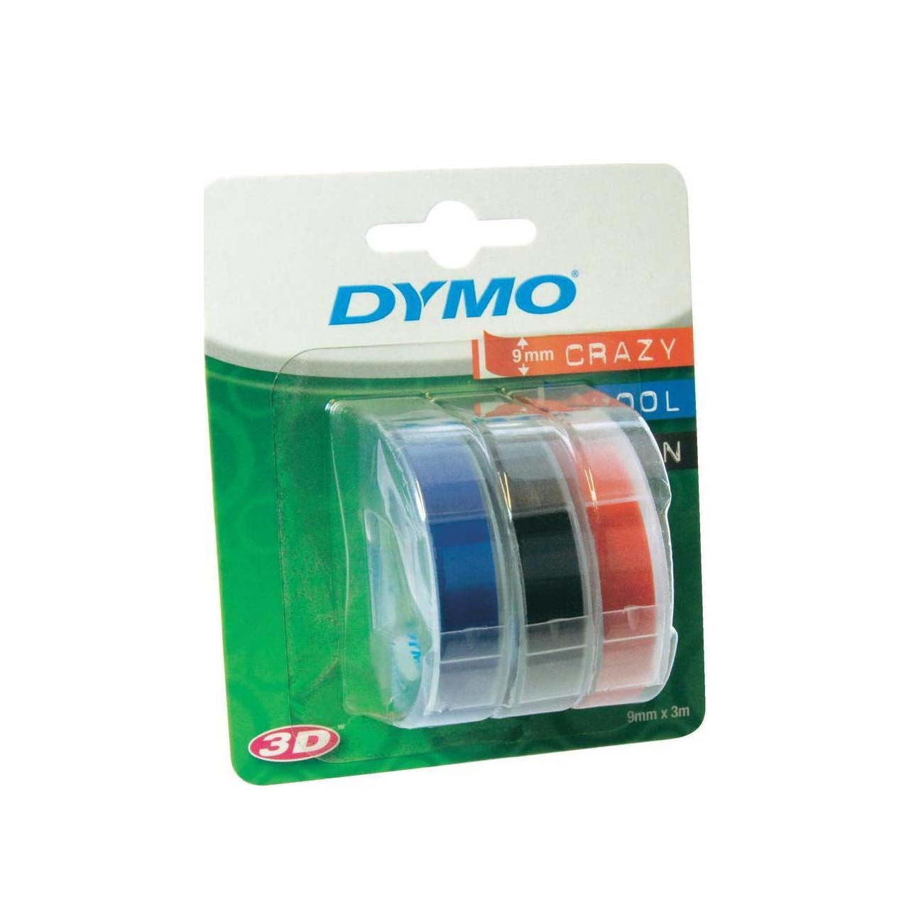 3x1 Dymo Embossing Labels Multi-Pack 9mm Red/Blue/Black S0847750