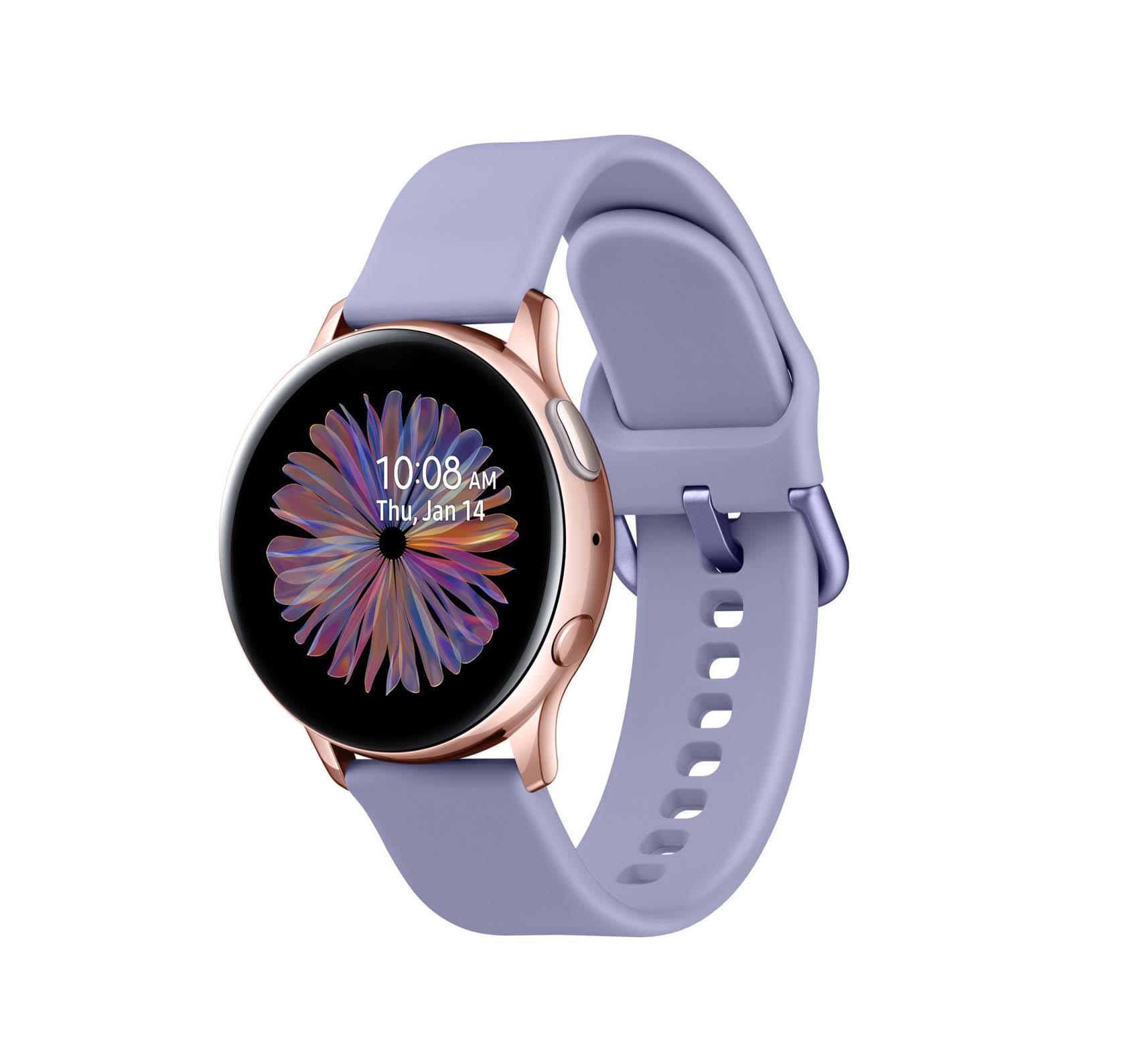 Samsung Galaxy Watch Active 2 R830 Aluminium 40mm Rose Gold Violet Edition (SM-R830NADADBT) Πληρωμή έως 24 δόσεις*