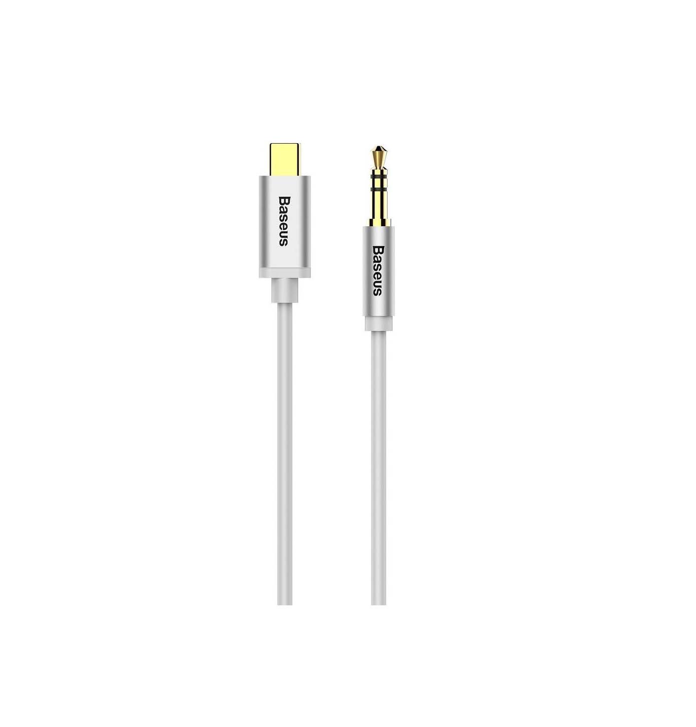 Baseus Yiven Regular USB 2.0 Cable USB-C Male - 3.5mm Male 1.2m CCAM01-02 Silver