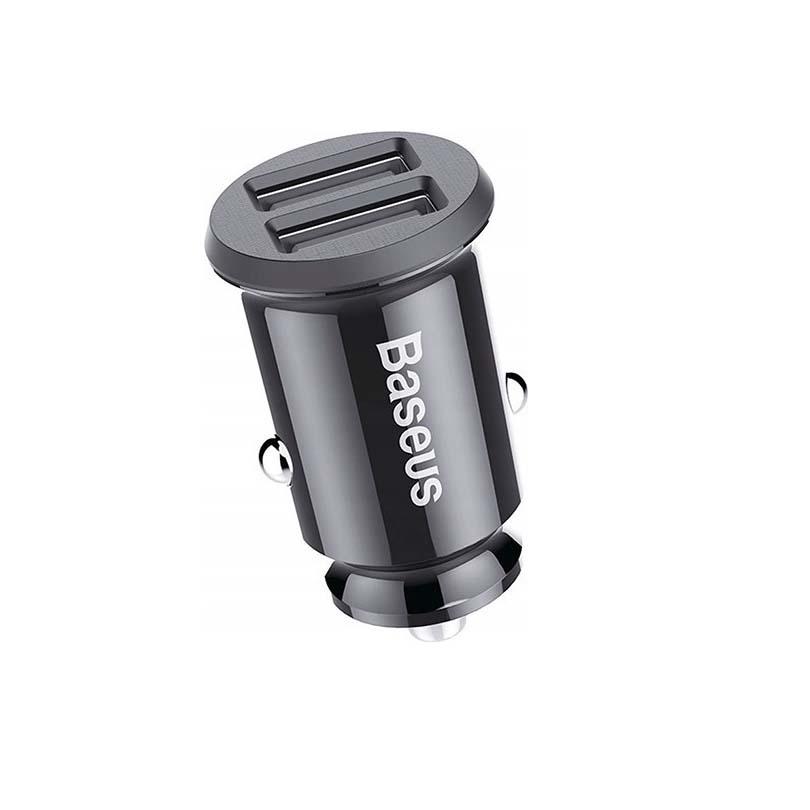Baseus  3.1A 2x USB Grain CCALL-ML01 Φορτιστής Αυτοκινήτου Black