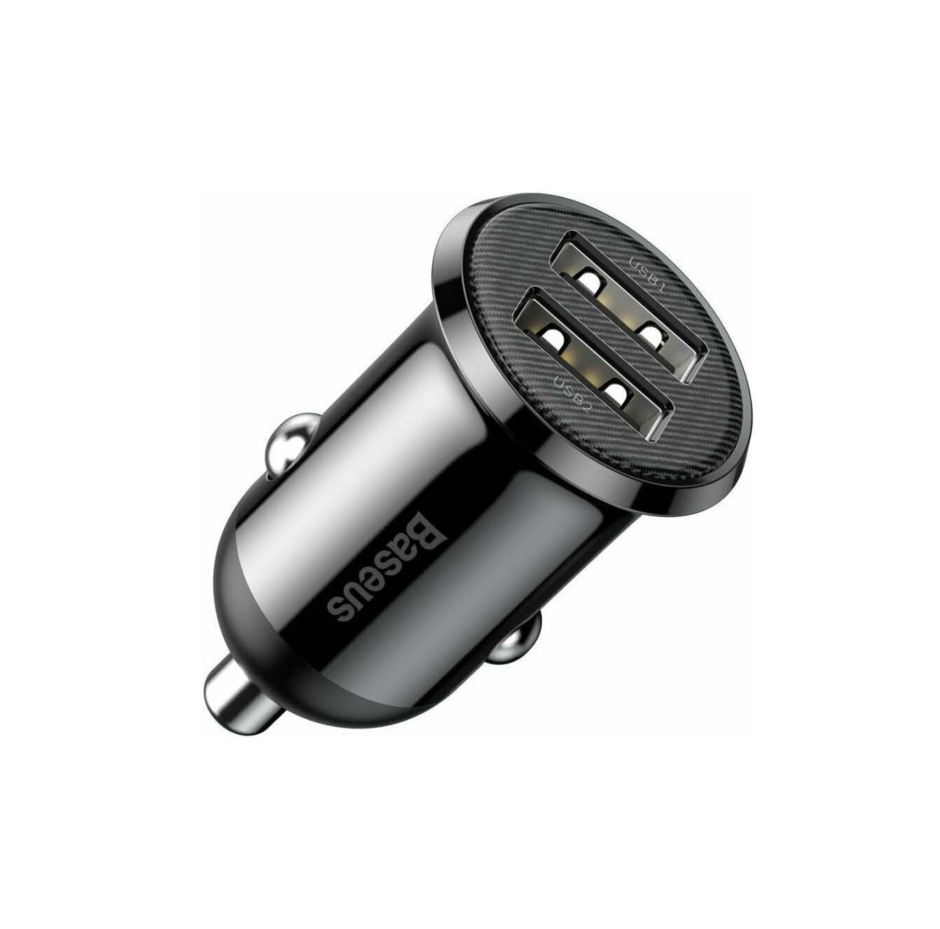 Baseus 4.8A 2x USB Grain Pro CCALLP-01 Φορτιστής Αυτοκινήτου Black