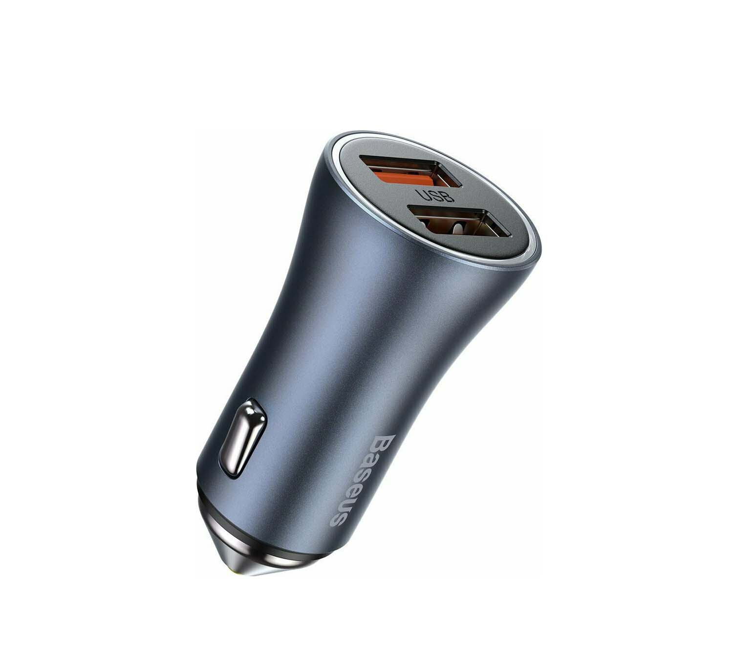 Baseus 40W 2x USB QC3.0 Golden Contac tor Pro CCJD-A0G  Φορτιστής Αυτοκινήτου Grey