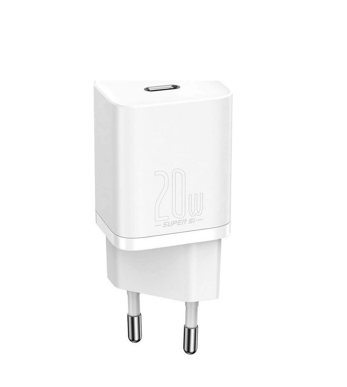 Baseus 20W PD USB-C plug Super Si CCSUP-B02 Φορτιστής  White