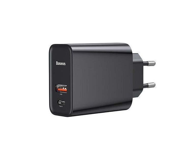 Baseus 30W 1x USB + USB-C PD QC3.0 plug Speed PPS CCFS-C01 Φορτιστής Black