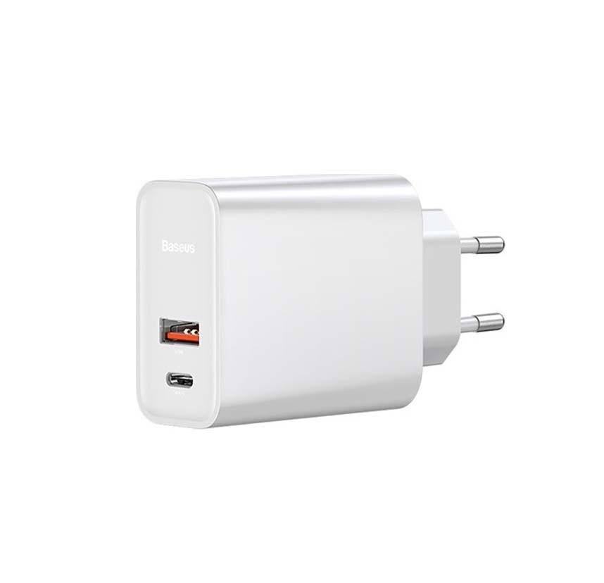 Baseus 30W 1x USB + USB-C PD QC3.0 plug Speed PPS CCFS-C02 Φορτιστής White