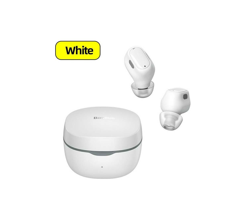 Baseus Earphones Buds In-ear Bluetooth Handsfree WM01 NGWM01-02 White