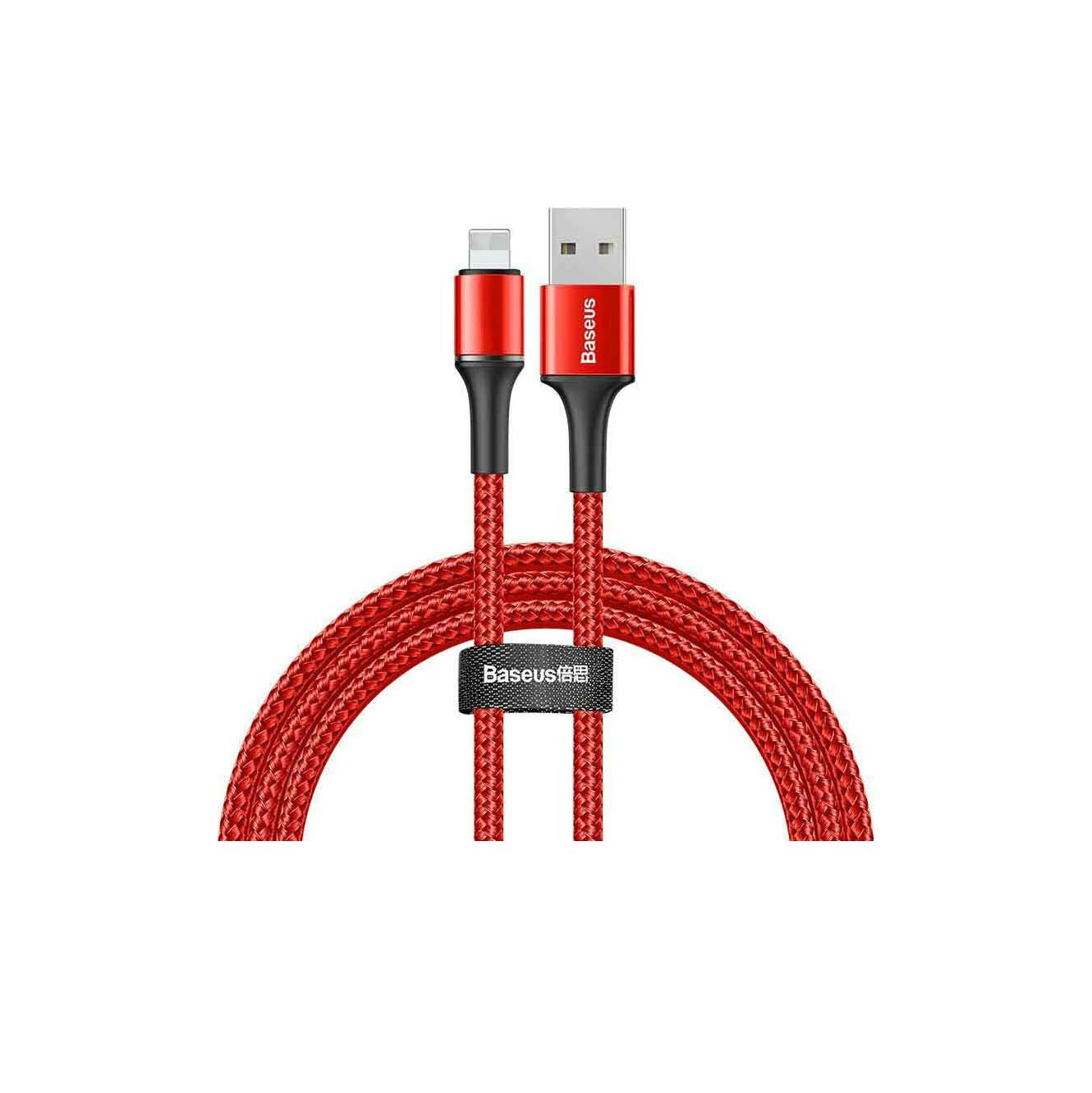 Baseus USB Cable Halo Data CALGH-B09 iPhone Lightning 1M 2.4A Red