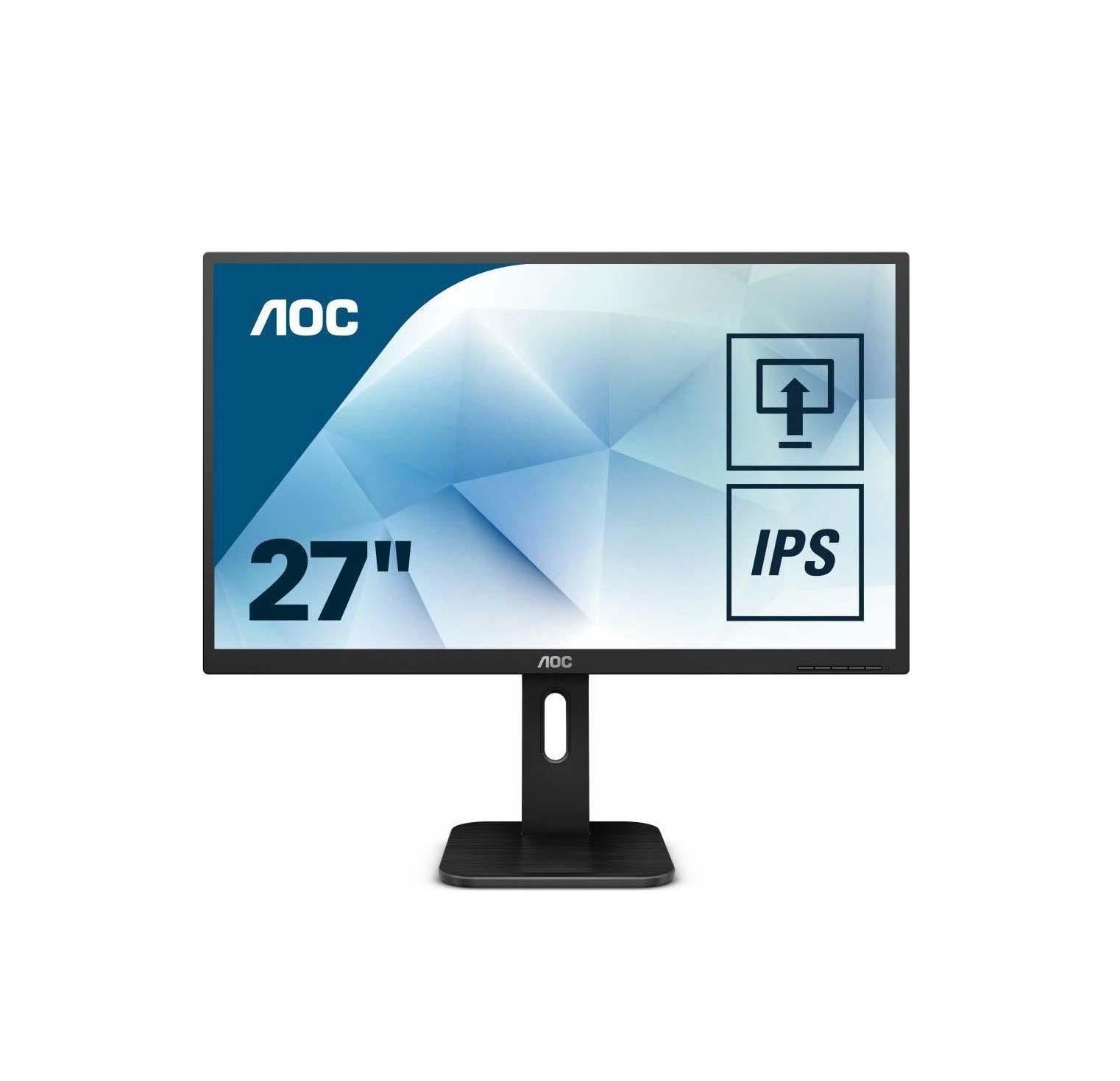 """AOC 27P1 Monitor 27"""" FHD Black Οθόνη Πληρωμή έως 24 δόσεις"""