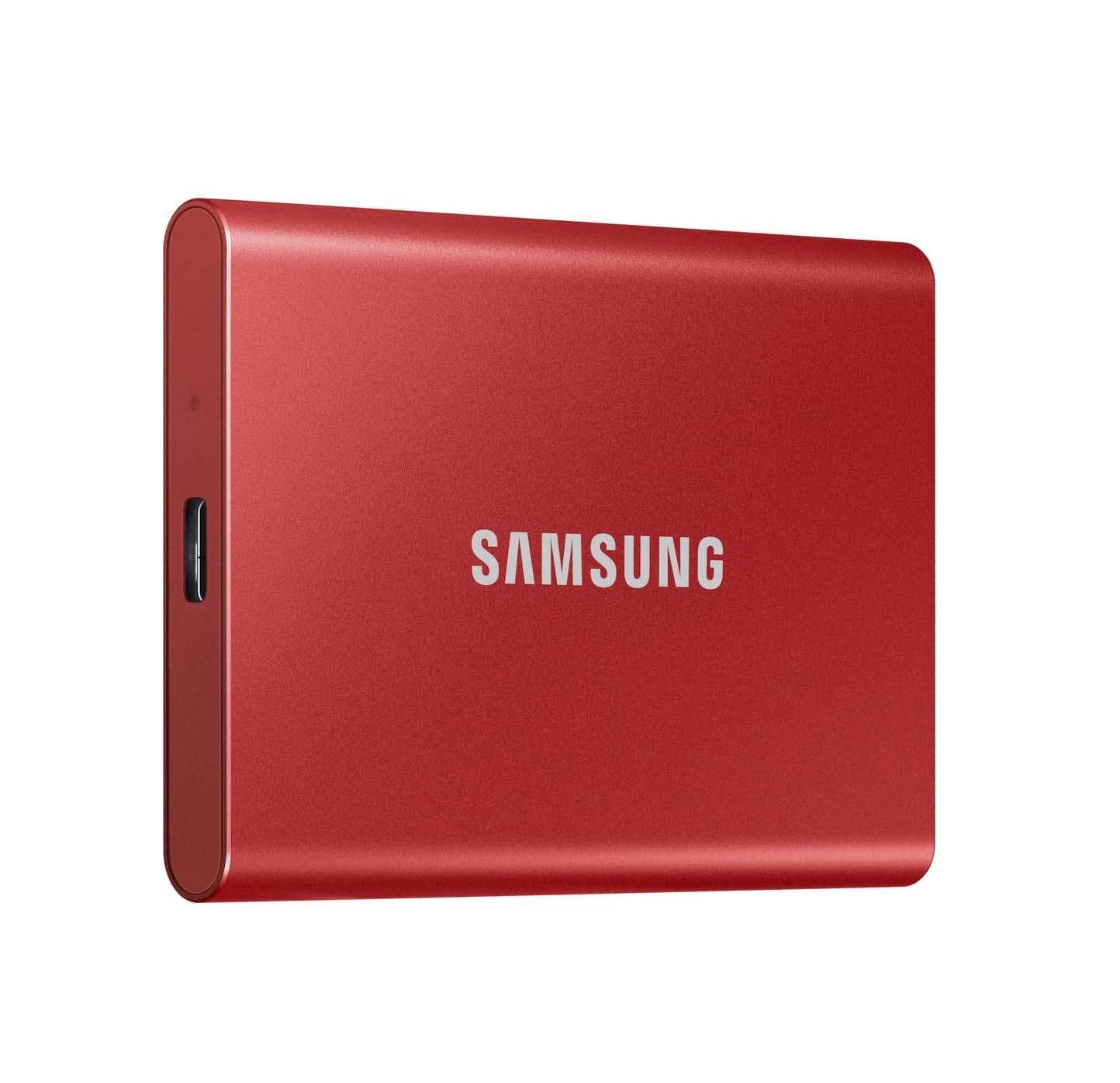 Samsung Portable SSD T7 500GB Εξωτερικός Σκληρός Δίσκος Red  MU-PC500R