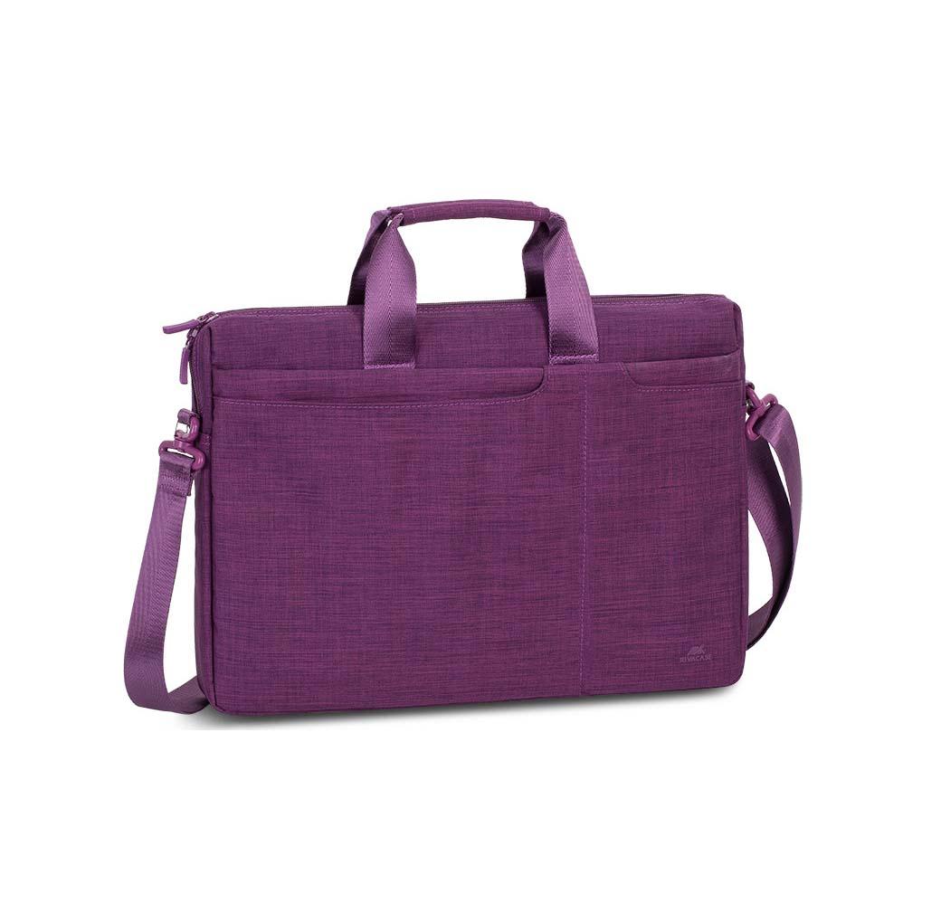 "Rivacase Biscayne 8335 Τσάντα Ώμου / Χειρός για Laptop 15.6"" Lila"