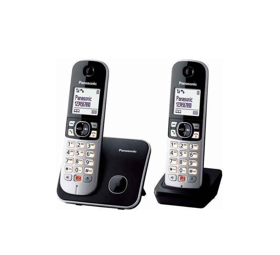 Panasonic KX-TG6852 Ασύρματο Τηλέφωνο Black