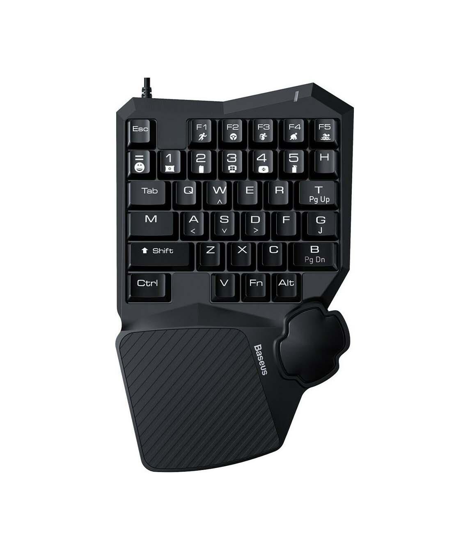 Baseus Keyboard (Gaming One Handed) GAMO GMGK01-01 Black