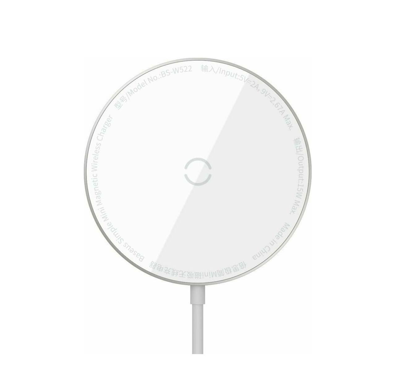 Baseus Wireless charger - Simple Mini Magnetic WXJK-F02 IP12 + Type C 1.5m White
