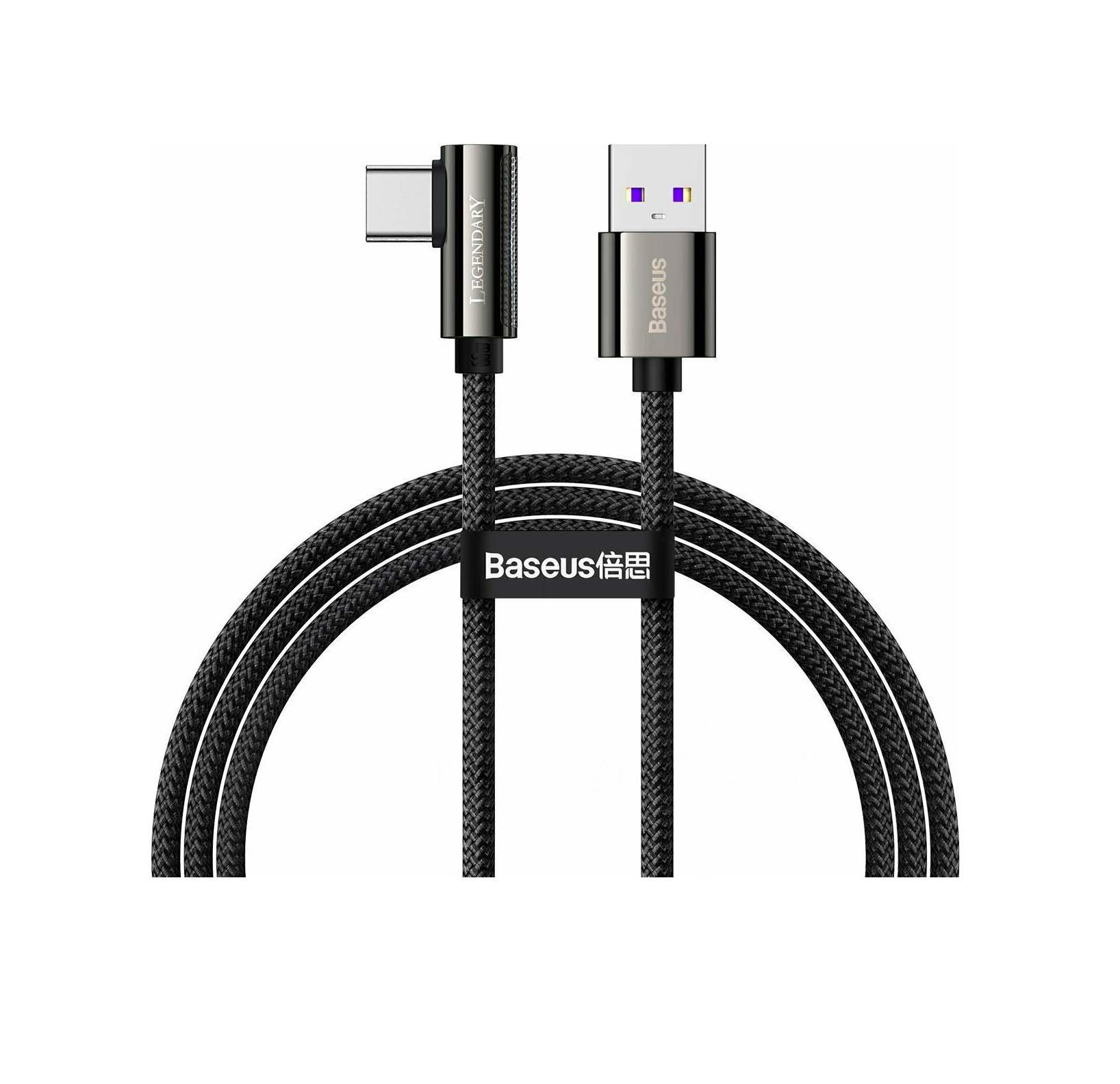 Baseus USB Cable - Legend Series Elbow CATCS-B01 Typ C 1M 66W Quick Charging Black