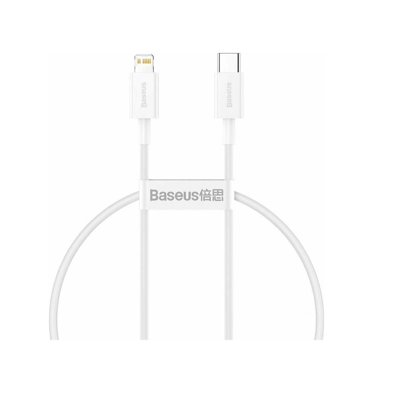 Baseus USB Cable - Superior Series CATLYS-02 Typ C - Lightning 0.25M 20W Quick Charging White