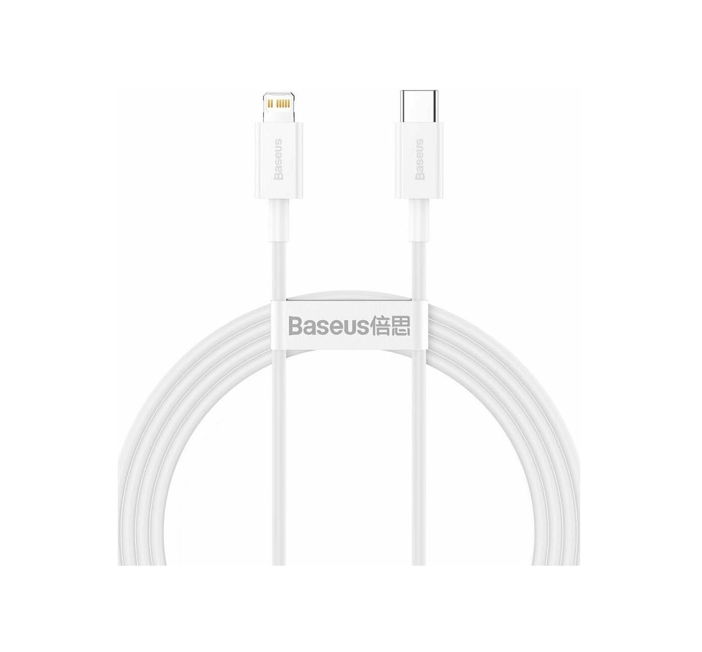 Baseus USB Cable - Superior Series CATLYS-B02 Typ C - Lightning 1.5M 20W Quick Charging White