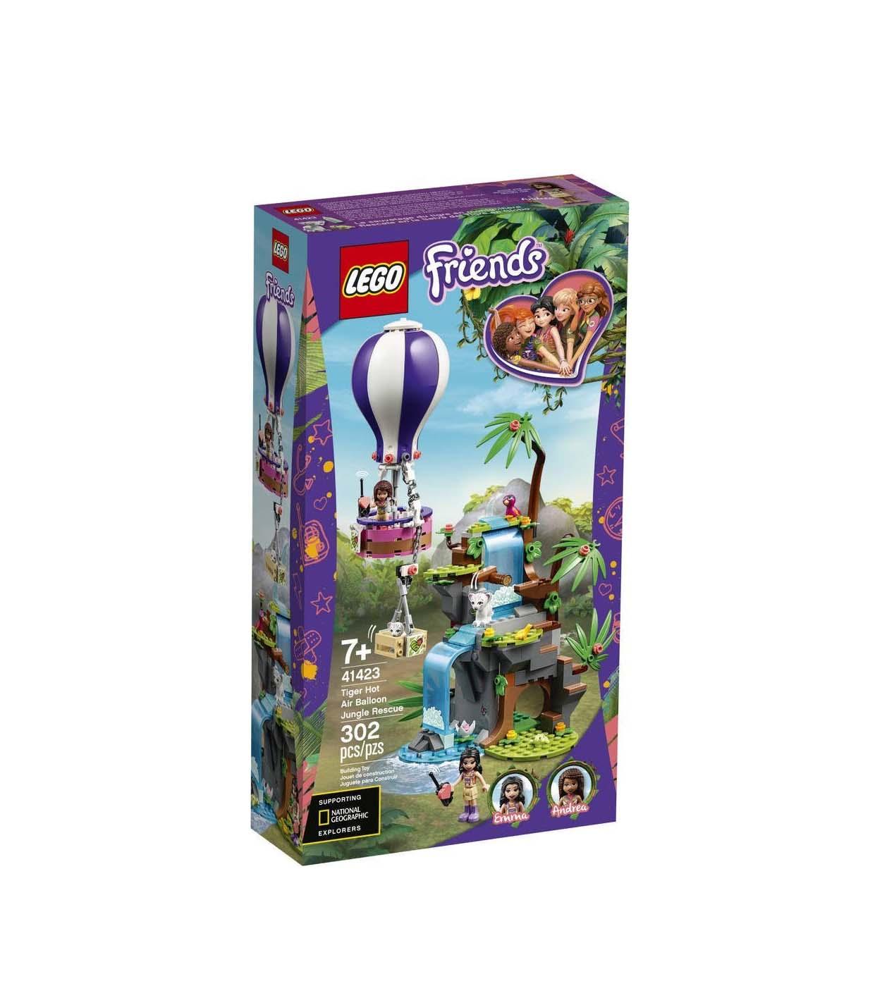 Lego Friends: Tiger Hot Air Balloon Jungle Rescue 41423