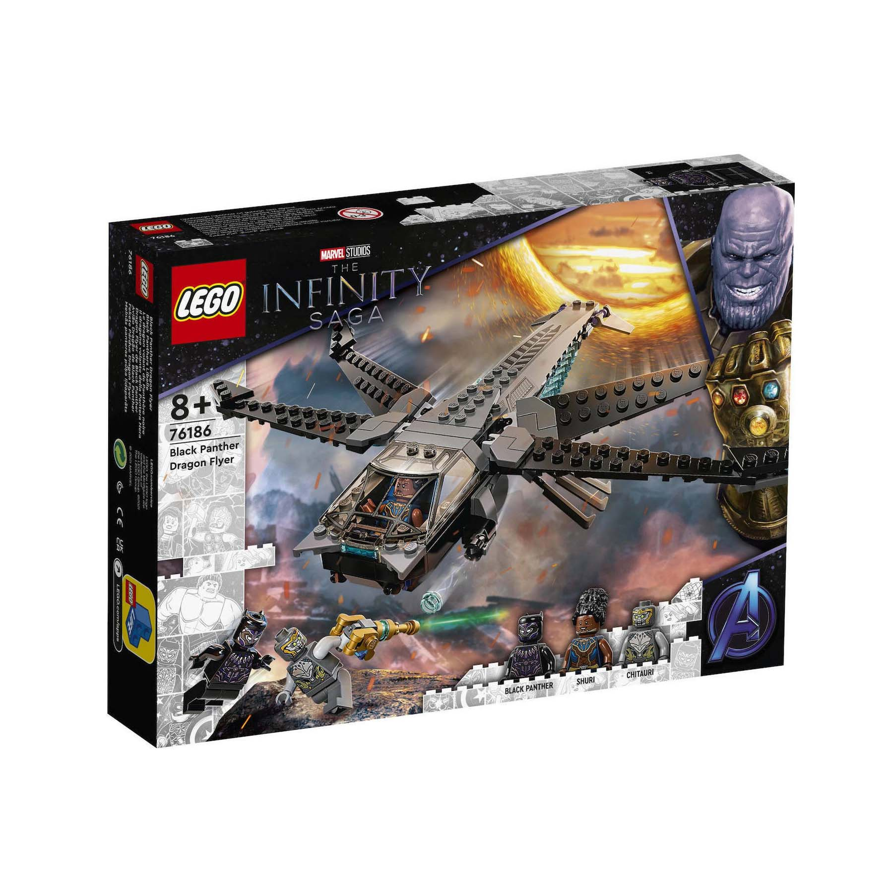 Lego The Infinity Saga: Black Panther Dragon Flyer 76186