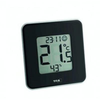 STYLE, Ψηφιακό Θερμόμετρο - Υγρασιόμετρο, Μαύρο (TFA)