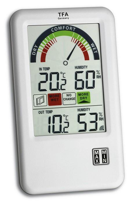 BEL-AIR Θερμόμετρο-Υγρασιόμετρο Εσωτερικού και Εξωτερικού χώρου (TFA)