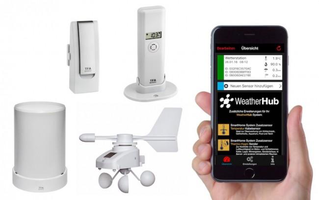 Ασύρματος Μετεωρολογικός Σταθμός WEATHERHUB SMARTHOME SYSTEM (TFA)