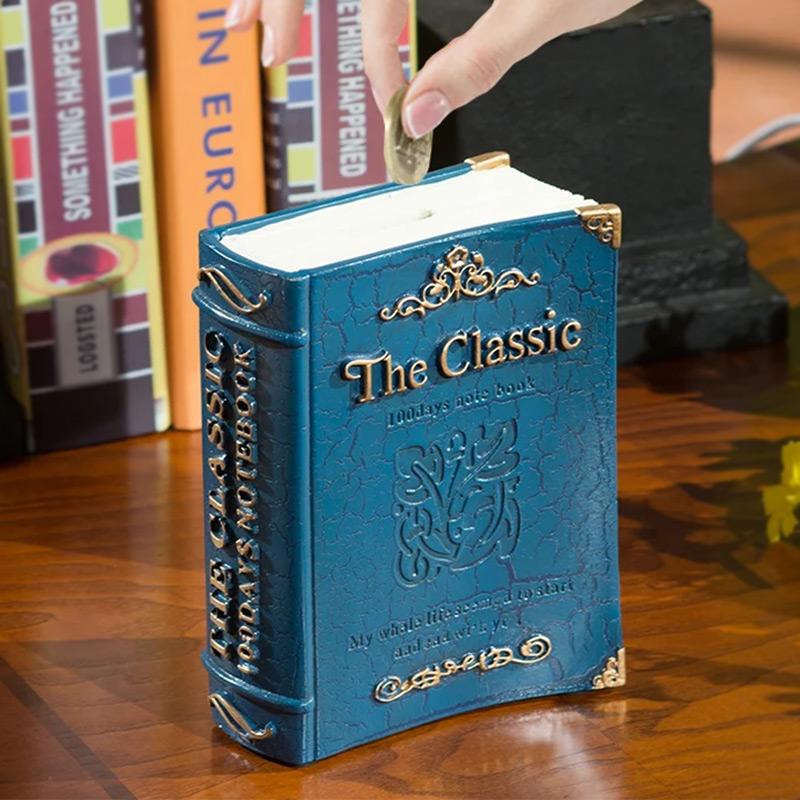 Διακοσμητικό Βιβλίο Και Κουμπαράς - Μπλε  (Πλαστικό) ΟΕΜ 1252 34819