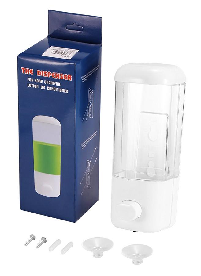 Επαναγεμιζόμενη αντλία υγρού σαπουνιού AG191A, 500ml, λευκή - UNBRANDED 27391