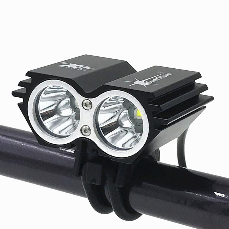 Διπλός LED φακός ποδηλάτου με επαναφορτιζόμενη μπαταρία 2000 lm - 1252 671