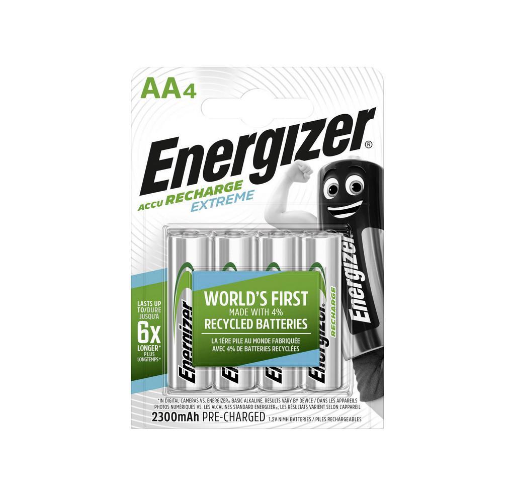 Μπαταρία Επαναφορτιζόμενη Energizer ACCU Recharge Extreme 2300 mAh size AA 1.2V Τεμ. 4