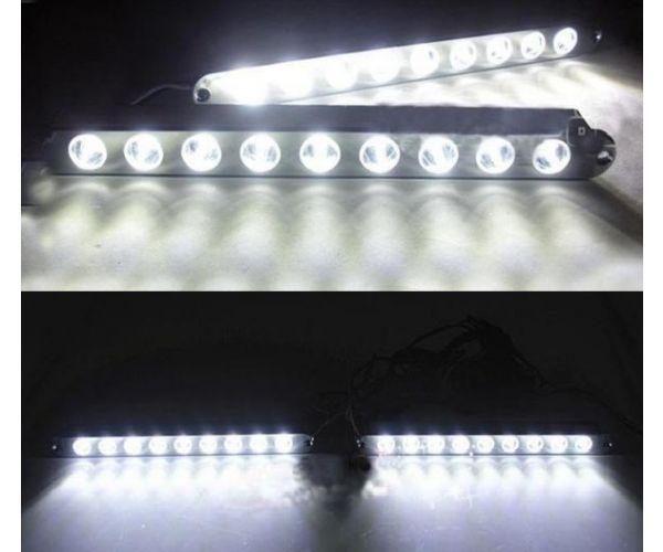 Led Φώτα Ημέρας Αυτοκινήτου Σετ 2 Τεμ με Φλας OEM KL-91